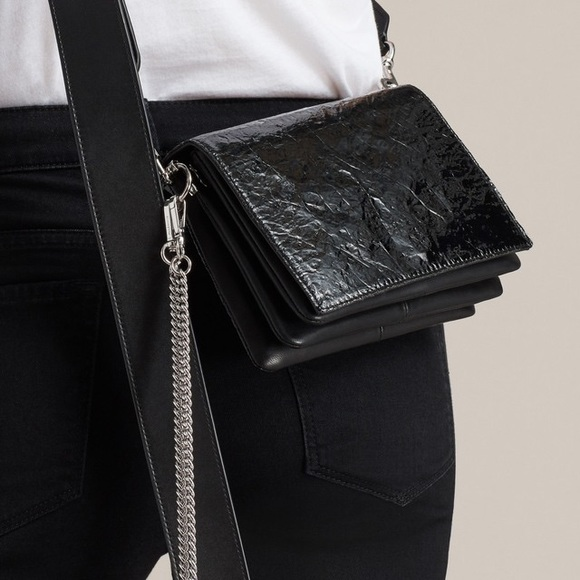 cdbb8e136223 AllSaints Zep Shiny Shoulder Bag